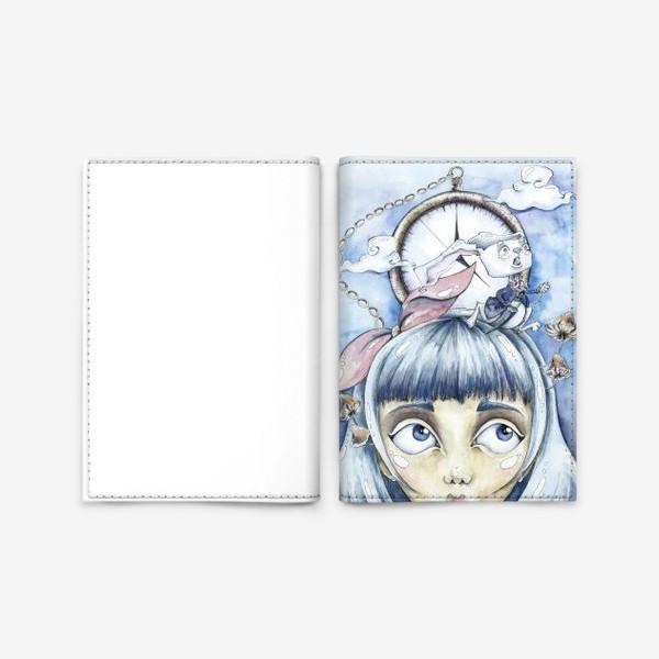 Обложка для паспорта «встреча с белым кроликом»