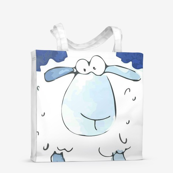 Сумка-шоппер «Кудрявая белая овечка»