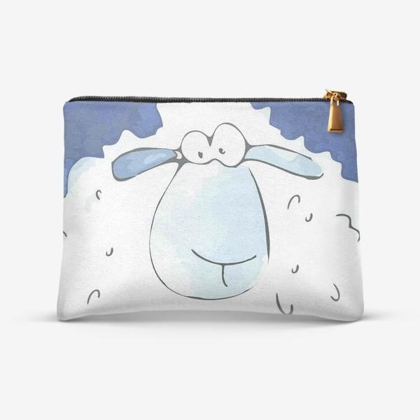 Косметичка «Кудрявая белая овечка»