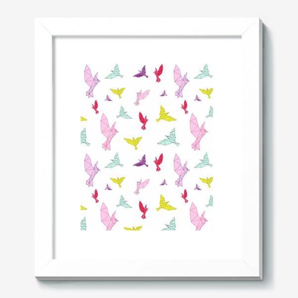 Картина «Птицы геометрия ярко »