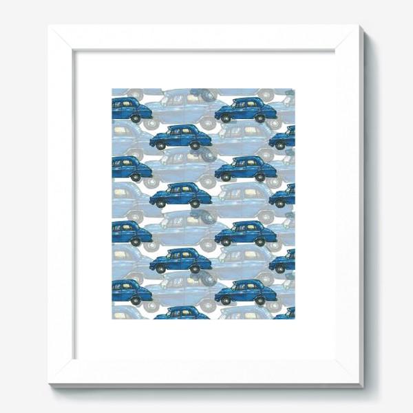 Картина «Авто тачки машины синий паттерн »