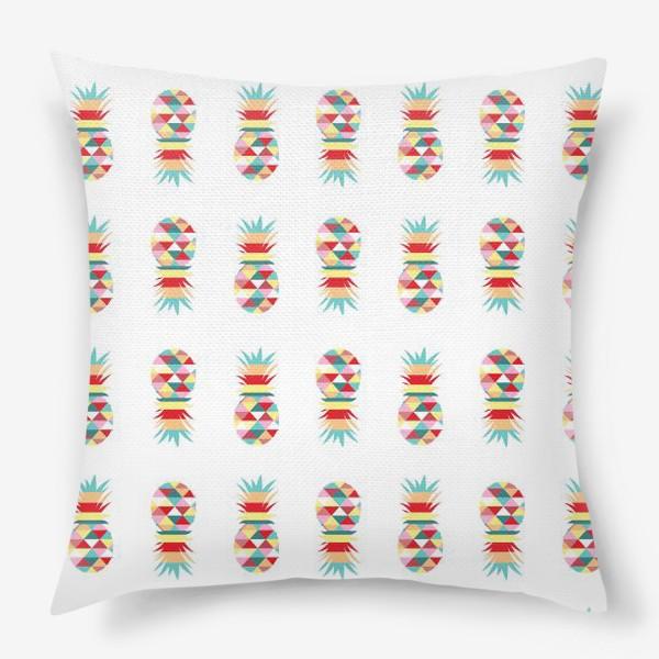 Подушка «паттерн ананасовый»