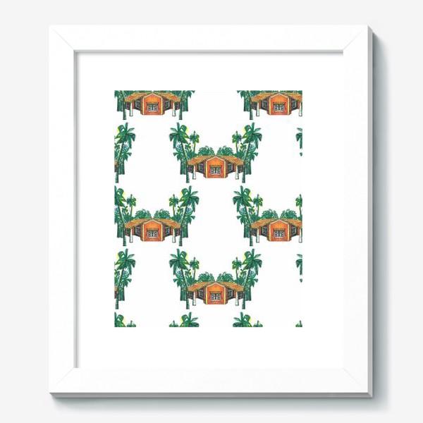 Картина «Паттерн дома пальмы рисунок»