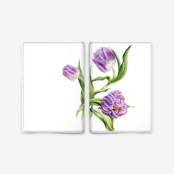 Обложка для паспорта «Тюльпаны»