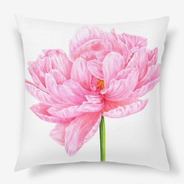 Подушка «Розовый пион»