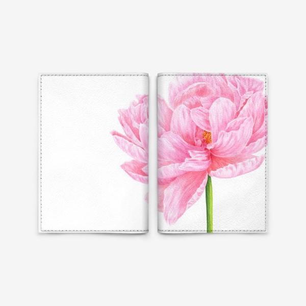 Обложка для паспорта «Розовый пион»