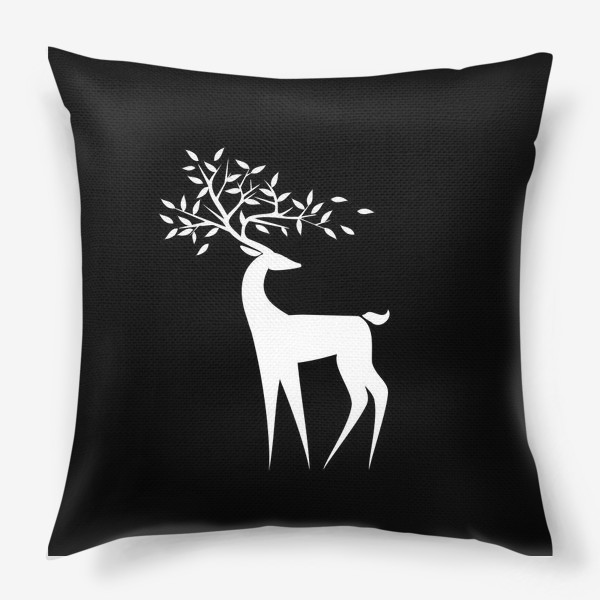 Подушка «Белый олень»