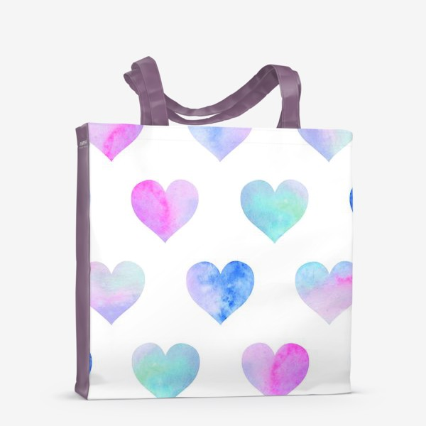 Сумка-шоппер «Паттерн из сердец на белом фоне»