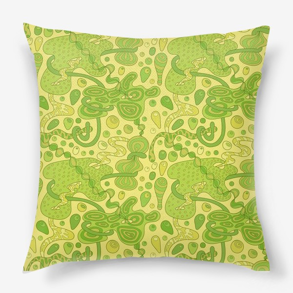 Подушка «Зеленые пузырьки »