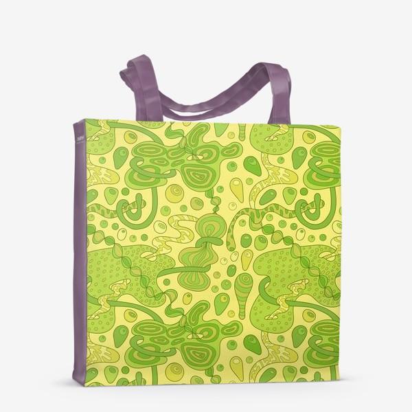Сумка-шоппер «Зеленые пузырьки »