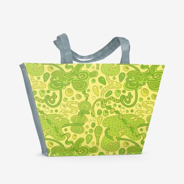 Пляжная сумка «Зеленые пузырьки »