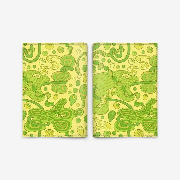 Обложка для паспорта «Зеленые пузырьки »