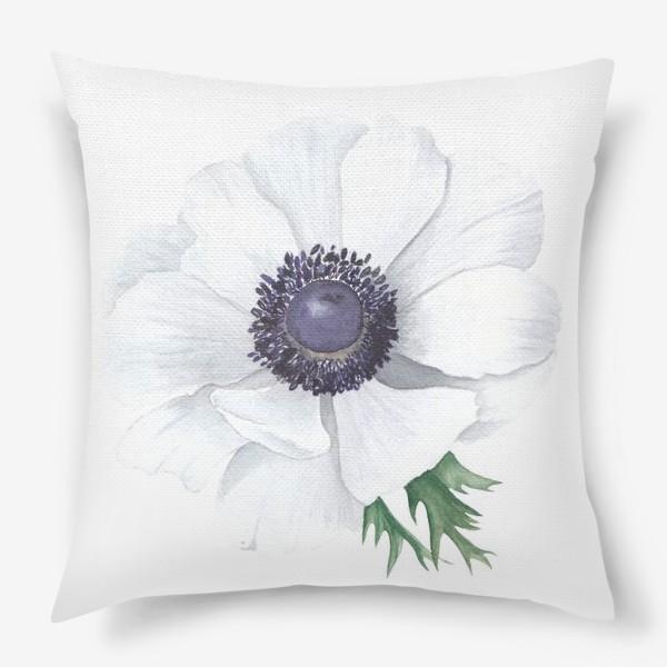 Подушка «Белый анемон»