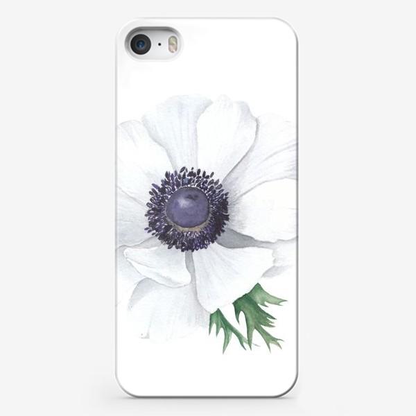 Чехол iPhone «Белый анемон»