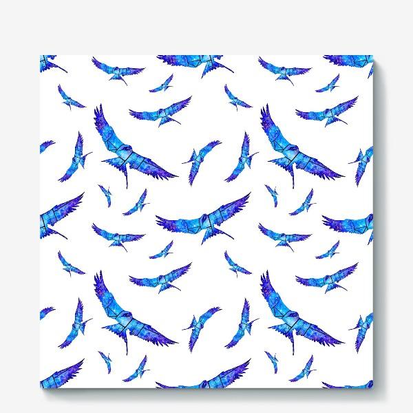 Холст «Синие птицы»