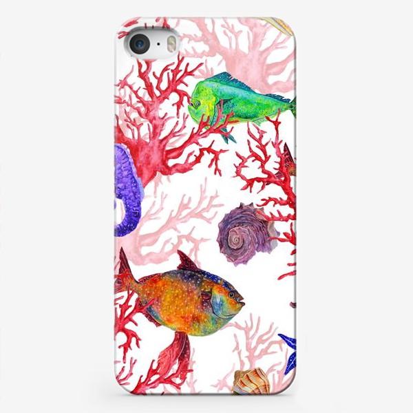 Чехол iPhone «Морские жители, кораллы и ракушки»