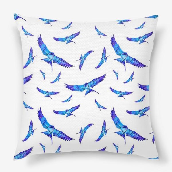 Подушка «Синие птицы»