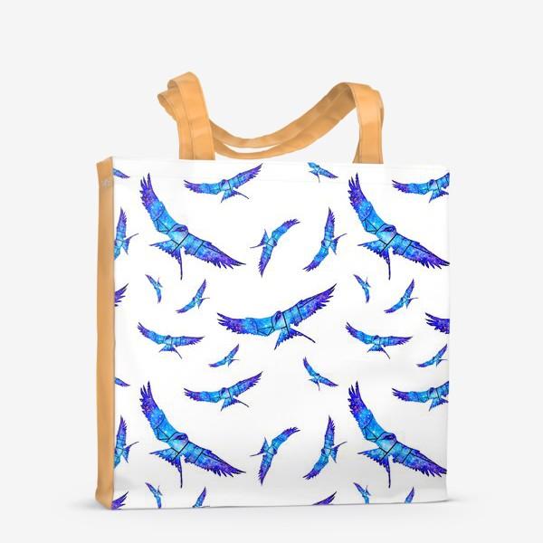 Сумка-шоппер «Синие птицы»