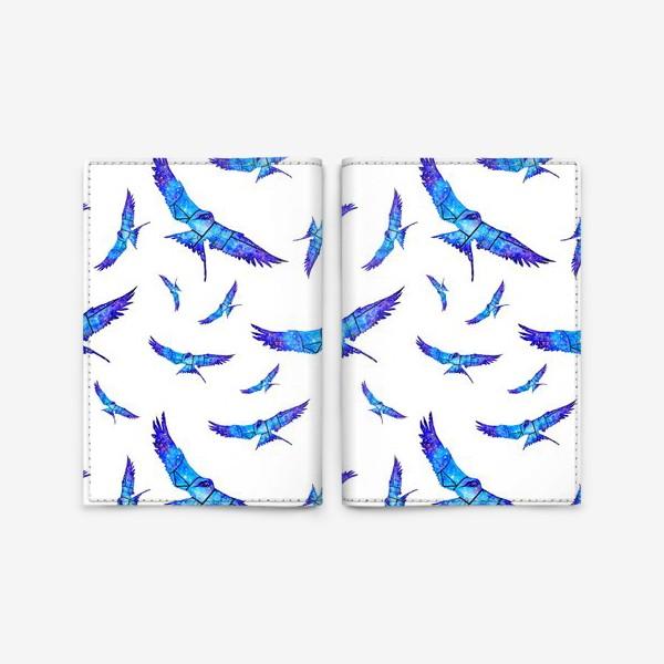 Обложка для паспорта «Синие птицы»
