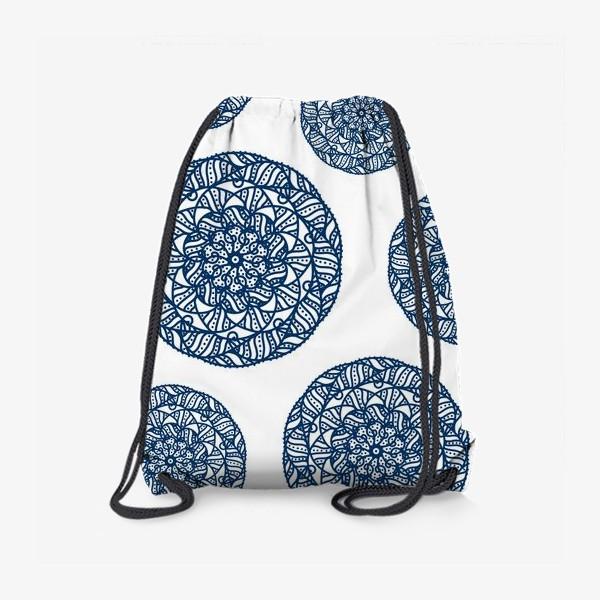 Рюкзак «Синие узоры»