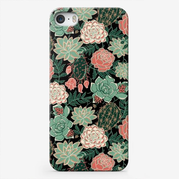 Чехол iPhone «succulents and roses»