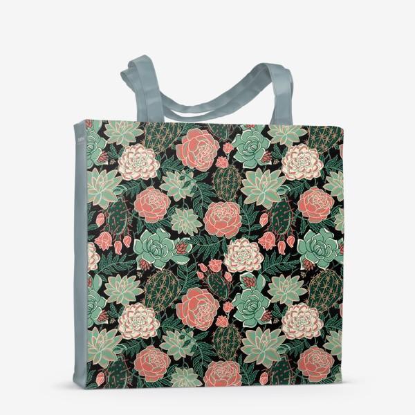 Сумка-шоппер «succulents and roses»