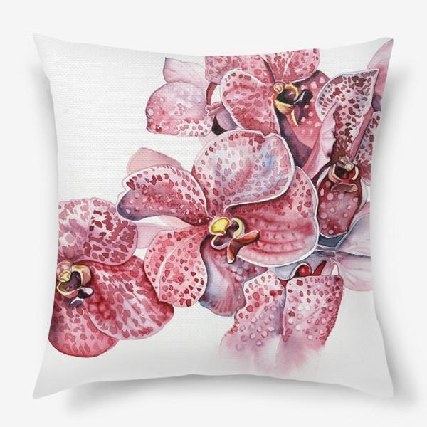 Подушка «орхидейка красная»