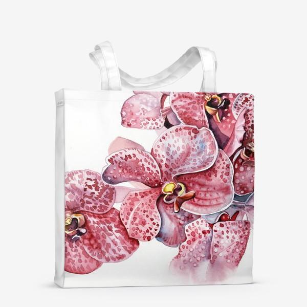 Сумка-шоппер «орхидейка красная»