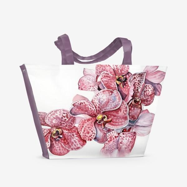Пляжная сумка «орхидейка красная»
