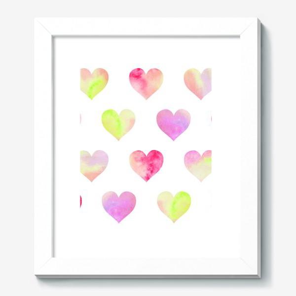 Картина «Паттерн из разноцветных сердец»