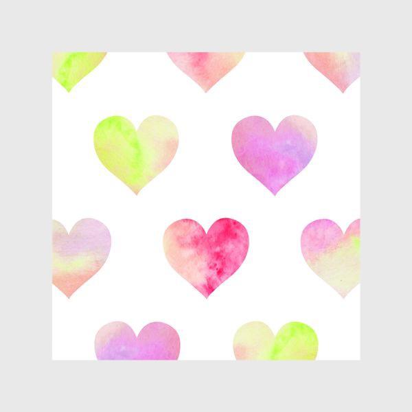 Шторы «Паттерн из разноцветных сердец»