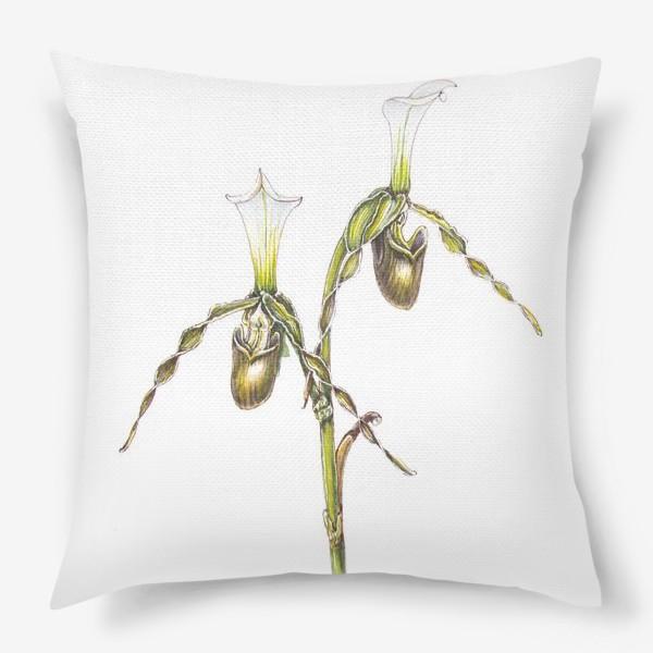 Подушка «Венерин башмачок орхидея»
