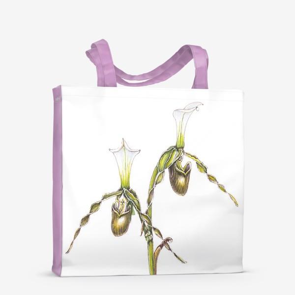 Сумка-шоппер «Венерин башмачок орхидея»