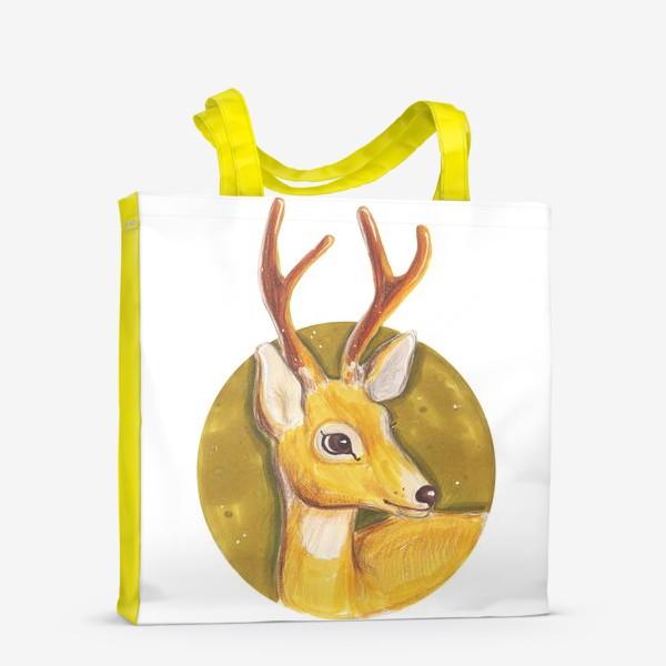 Сумка-шоппер «Очень красивый, милый и яркий олень»