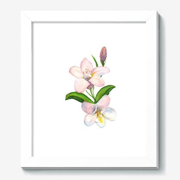 Картина «Акварельные Розовые цветы»
