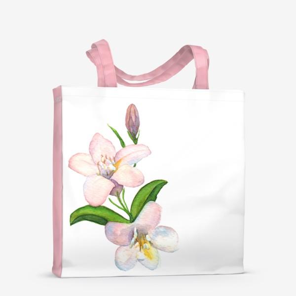 Сумка-шоппер «Акварельные Розовые цветы»