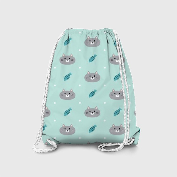 Рюкзак «Котики и рыбки»