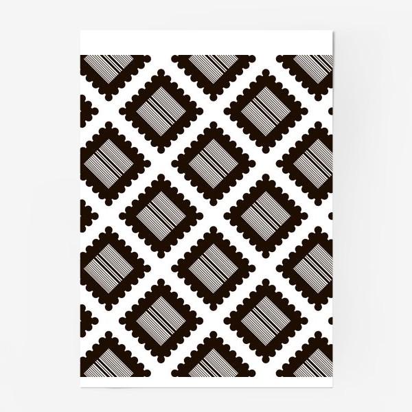 """Постер «Паттерн """"Черно-белый крекер"""" (pattern """"Black and white cracker"""")»"""
