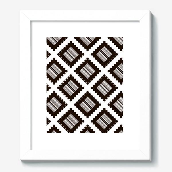 """Картина «Паттерн """"Черно-белый крекер"""" (pattern """"Black and white cracker"""")»"""