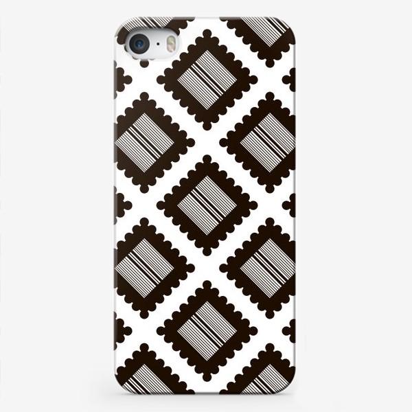 """Чехол iPhone «Паттерн """"Черно-белый крекер"""" (pattern """"Black and white cracker"""")»"""