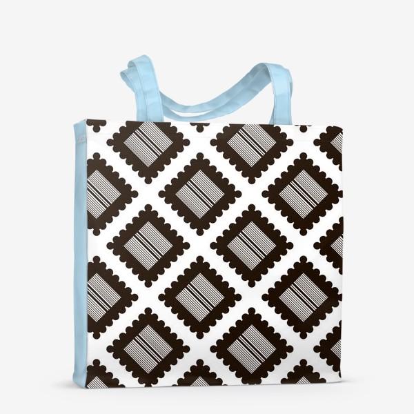 """Сумка-шоппер «Паттерн """"Черно-белый крекер"""" (pattern """"Black and white cracker"""")»"""