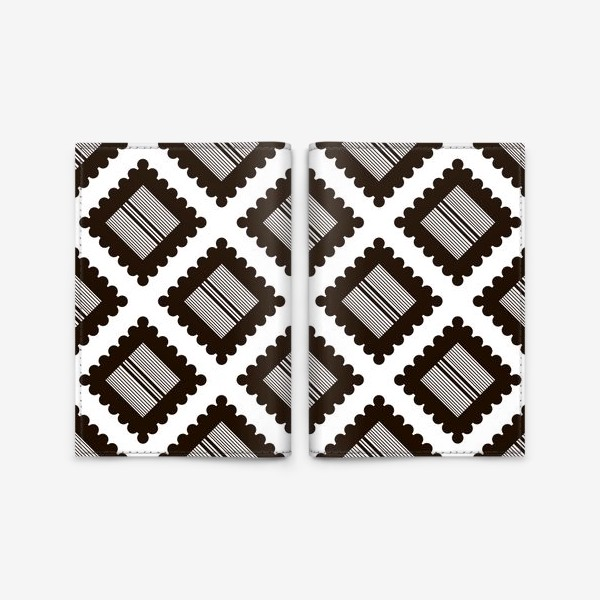 "Обложка для паспорта «Паттерн ""Черно-белый крекер"" (pattern ""Black and white cracker"")»"