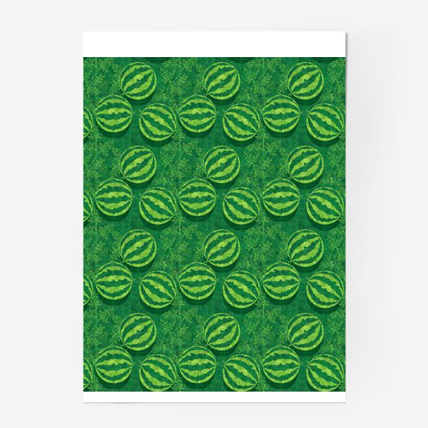 Постер «Зелёные арбузы в поле»