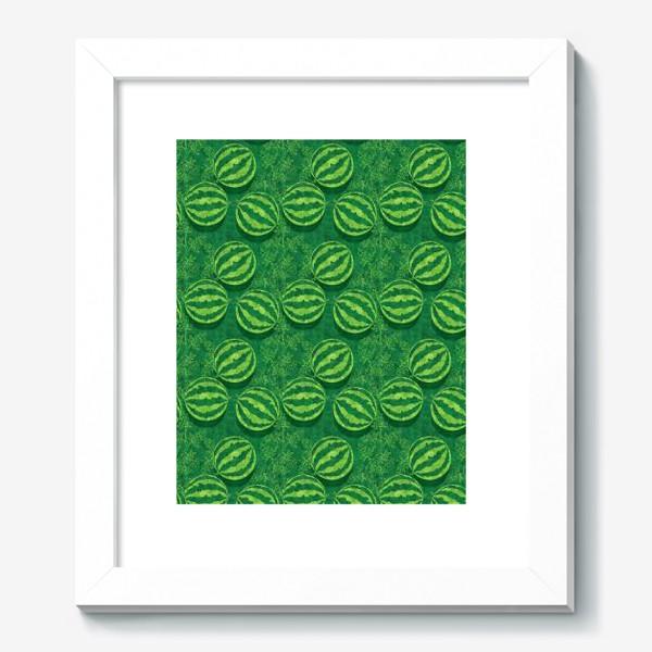Картина «Зелёные арбузы в поле»