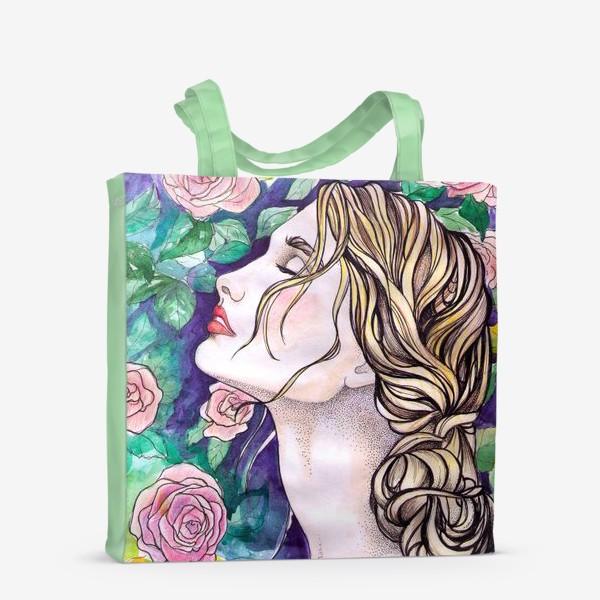 Сумка-шоппер «Дева с розами»