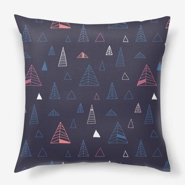 Подушка «Синий лес»