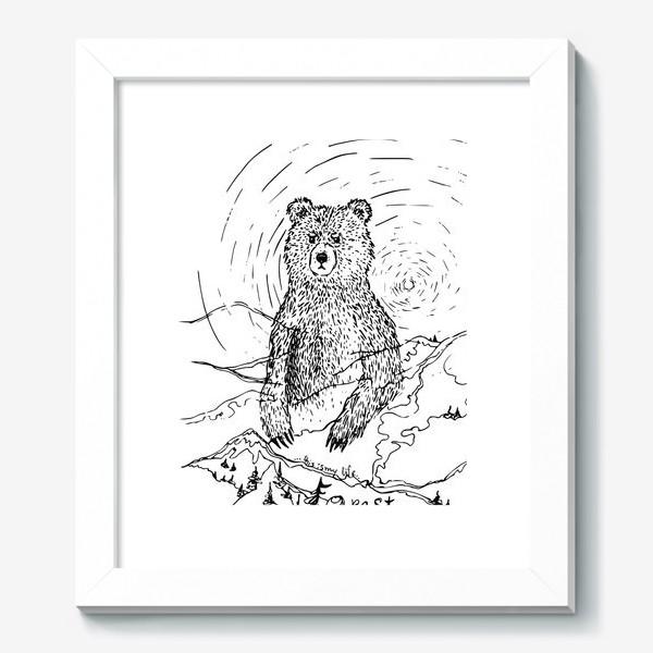 Картина «Медведь - хранитель леса»
