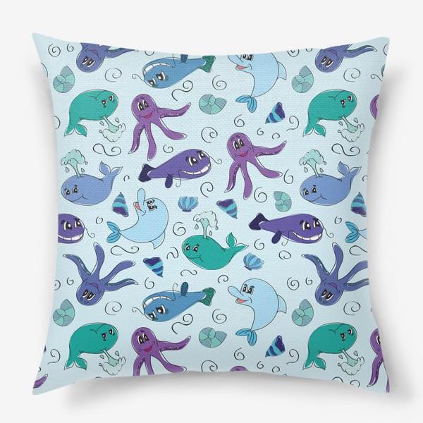 Подушка «Морской мир»