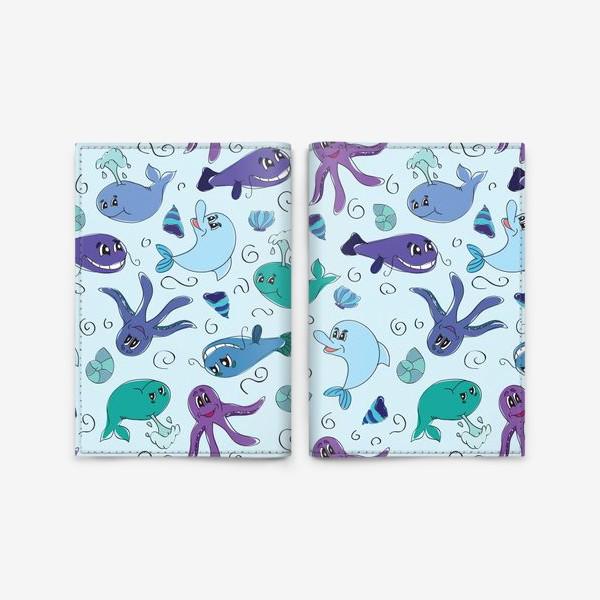 Обложка для паспорта «Морской мир»