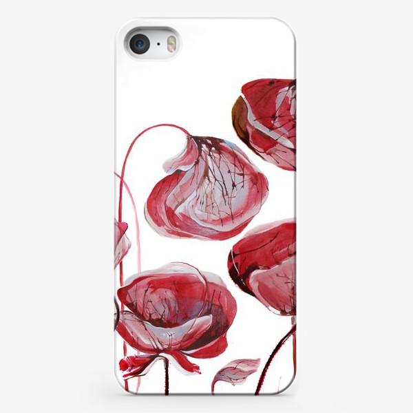 Чехол iPhone «Цветы Маки акварельные»